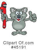 Royalty-Free (RF) Koala Clipart Illustration #45191