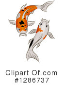 Royalty-Free (RF) Koi Clipart Illustration #1286737