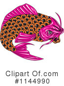 Royalty-Free (RF) Koi Fish Clipart Illustration #1144990