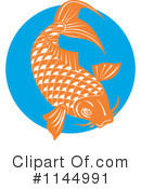 Royalty-Free (RF) Koi Fish Clipart Illustration #1144991