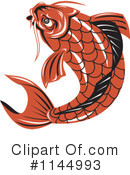 Royalty-Free (RF) Koi Fish Clipart Illustration #1144993