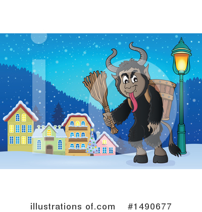 Krampus Clipart #1490677 by visekart