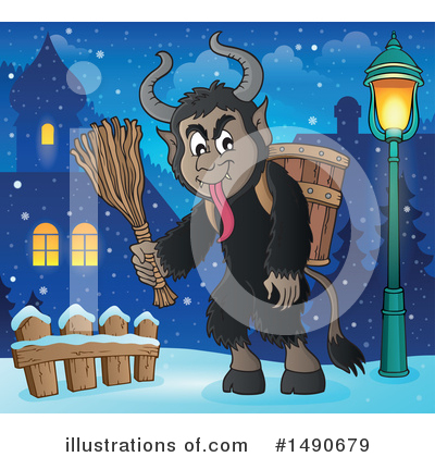 Krampus Clipart #1490679 by visekart