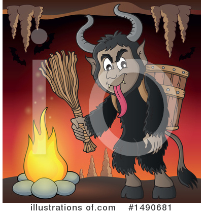 Krampus Clipart #1490681 by visekart