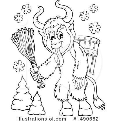 Krampus Clipart #1490682 by visekart