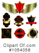 Royalty-Free (RF) Label Clipart Illustration #1054058