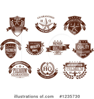 Royalty-Free (RF) Label Clipart Illustration by Vector Tradition SM - Stock Sample #1235730