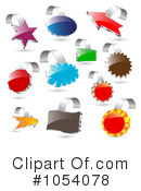 Royalty-Free (RF) Labels Clipart Illustration #1054078