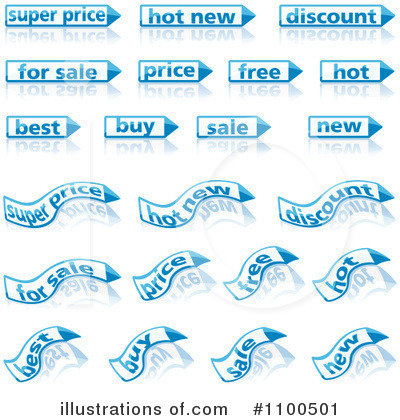 Royalty-Free (RF) Labels Clipart Illustration by dero - Stock Sample #1100501