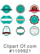 Royalty-Free (RF) labels Clipart Illustration #1109921