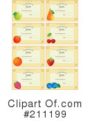 Royalty-Free (RF) Labels Clipart Illustration #211199
