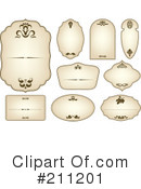 Royalty-Free (RF) Labels Clipart Illustration #211201