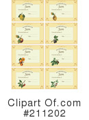 Royalty-Free (RF) Labels Clipart Illustration #211202