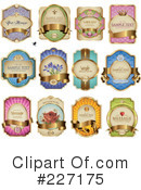 Royalty-Free (RF) Labels Clipart Illustration #227175