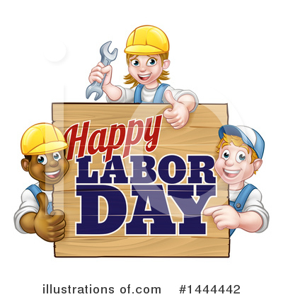 Royalty-Free (RF) Labor Day Clipart Illustration by AtStockIllustration - Stock Sample #1444442
