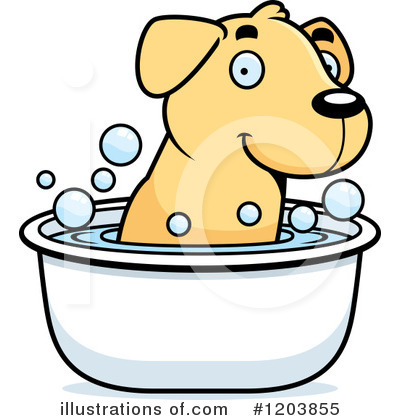 Labrador Clipart #1203855 by Cory Thoman