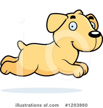 Labrador Clipart #1203860 by Cory Thoman