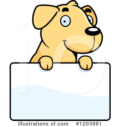 Labrador Clipart #1203861 by Cory Thoman