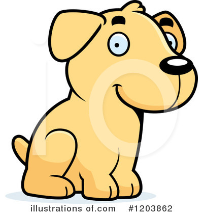 Labrador Clipart #1203862 by Cory Thoman