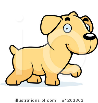 Labrador Clipart #1203863 by Cory Thoman