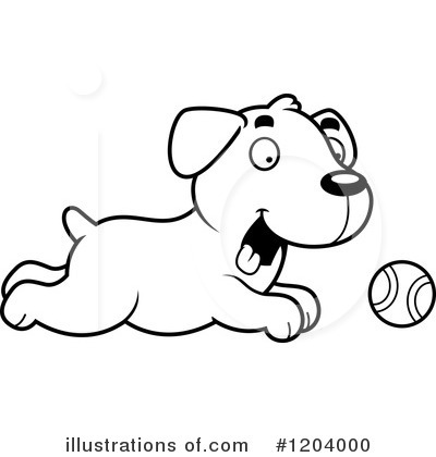 Labrador Clipart #1204000 by Cory Thoman