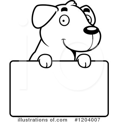Labrador Clipart #1204007 by Cory Thoman