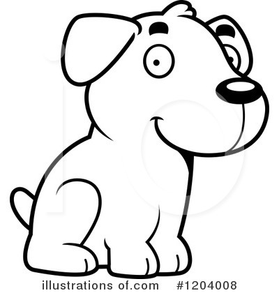 Labrador Clipart #1204008 by Cory Thoman