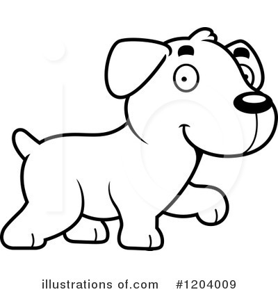 Labrador Clipart #1204009 by Cory Thoman