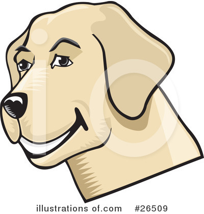 Royalty-Free (RF) Labrador Clipart Illustration by David Rey - Stock Sample #26509
