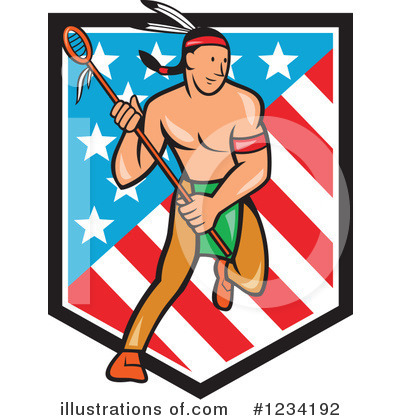 Native American Indian Clipart #1234192 by patrimonio