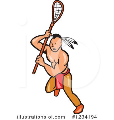 Native American Indian Clipart #1234194 by patrimonio