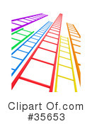 Royalty-Free (RF) Ladder Clipart Illustration #35653