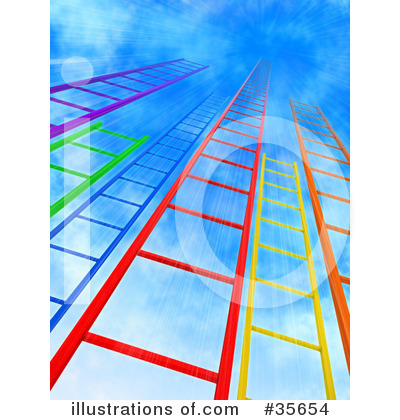 Royalty-Free (RF) Ladder Clipart Illustration by Tonis Pan - Stock Sample #35654