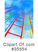 Royalty-Free (RF) Ladder Clipart Illustration #35654