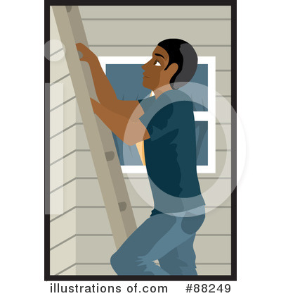 Royalty-Free (RF) Ladder Clipart Illustration by Rosie Piter - Stock Sample #88249