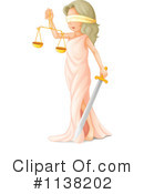 Royalty-Free (RF) Lady Justice Clipart Illustration #1138202