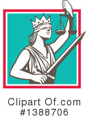 Lady Justice Clipart #1388706 by patrimonio