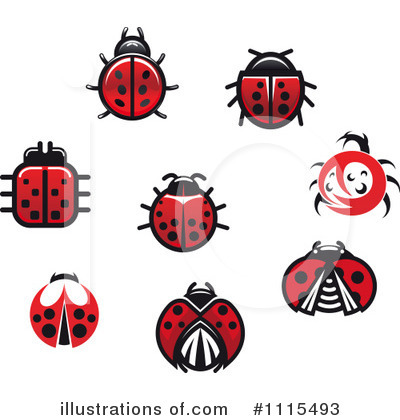 Ladybug Clipart #1115493 by Vector Tradition SM