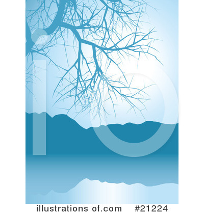Royalty-Free (RF) Lake Clipart Illustration by Elaine Barker - Stock Sample #21224