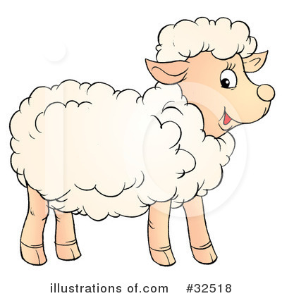 Royalty Free (RF) Lamb Clipart Illustration #32518 By Alex Bannykh