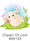 Royalty-Free (RF) Lamb Clipart Illustration #96133