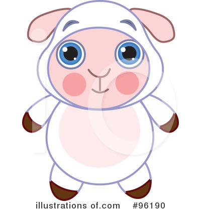 Royalty-Free (RF) Lamb Clipart Illustration by Pushkin - Stock Sample #96190