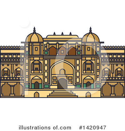 Fortress Clipart #1420947 by Vector Tradition SM