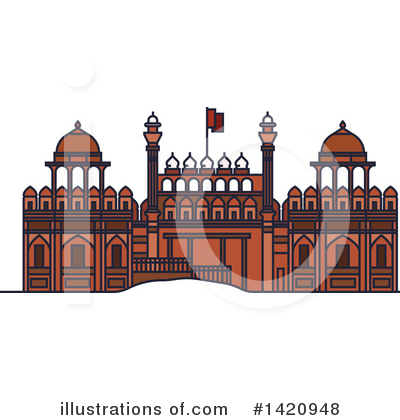 Fortress Clipart #1420948 by Vector Tradition SM