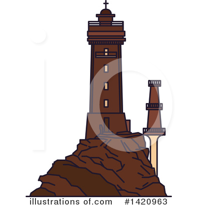 Lighthouse Clipart #1420963 by Vector Tradition SM