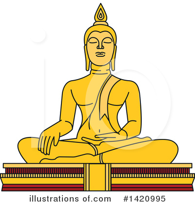 Buddha Clipart #1420995 by Vector Tradition SM