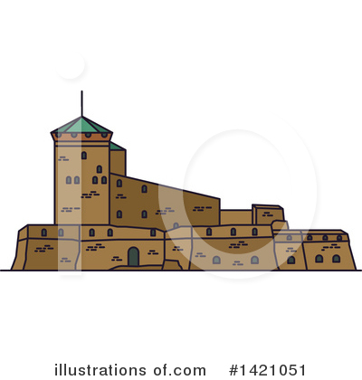 Fortress Clipart #1421051 by Vector Tradition SM