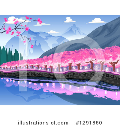 Cherry Blossoms Clipart #1291860 by BNP Design Studio