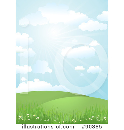 Royalty-Free (RF) Landscape Clipart Illustration by KJ Pargeter - Stock Sample #90385
