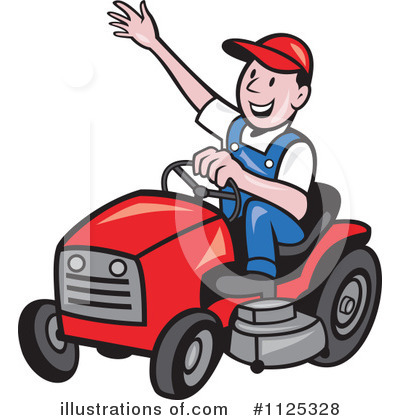 Lawn Mower Clipart #1125328 by patrimonio